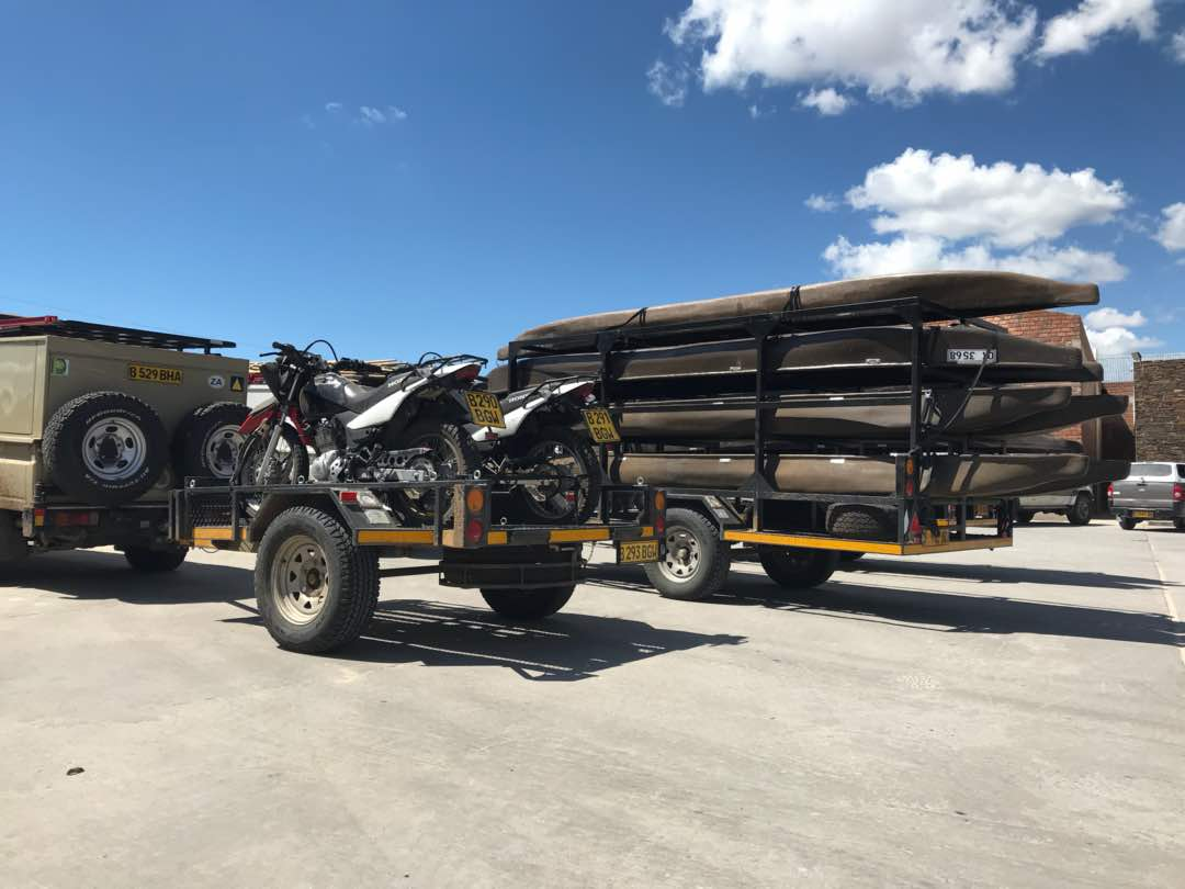 Trailrite Trailers build a custom Canoeing and motorbike trailer