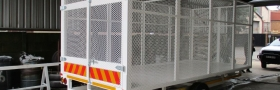 Caged Flatdeck trailer A
