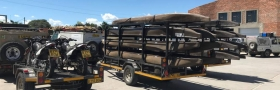 Trailrite Trailers build a custom Canoeing quad bike and motorbike trailer 2