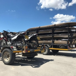 Trailrite Trailers build a custom Canoeing and motorbike trailer 2
