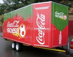 Coca Cola commercial trailers